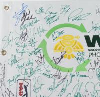 Waste Management Phoenix Open Golf Pin Flag Signed By (49) With Jordan Speith, Jon Rahm, Justin Thomas, Bryson DeChambeau (JSA ALOA) at PristineAuction.com
