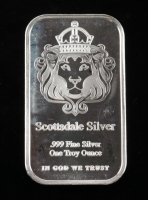1 Troy Ounce .999 Fine Silver Scottsdale Silver Bullion Bar at PristineAuction.com