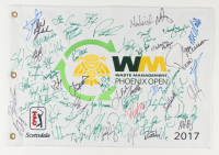 Waste Management Phoenix Open Golf Pin Flag Signed By (54) With Patrick Reed, Jordan Spieth, Bubba Watson, Phil Mickleson, Rickie Fowler (JSA ALOA) at PristineAuction.com