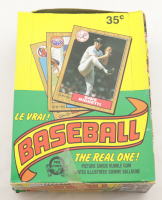 """1987 O-Pee-Chee """"The Real One"""" Bubble Gum Baseball Cards Box with (36) Packs (See Description) at PristineAuction.com"""