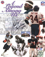 """Walter Payton Signed Bears """"A Legend Among Us"""" 8x10 Photo Inscribed """"Sweetness"""" & """"16,726"""" (PSA LOA) at PristineAuction.com"""