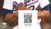 Nolan Ryan Signed Rangers 8x10 Photo (AIV Hologram & Ryan Hologram) at PristineAuction.com