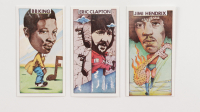 1975 Polydor Guitar Legends Complete Set of (16) Cards with Jimi Hendrix, Eric Clapton, B.B. King, Pete Townsend at PristineAuction.com