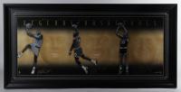 Michael Jordan, Magic Johnson & Larry Bird Signed LE 25x51 Custom Framed Photo Display (UDA Hologram) at PristineAuction.com