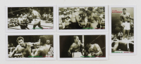 """2002 Rockwell """"The Great Heavyweights"""" Complete Boxing Set of (10) Cards including Muhammad Ali #1, Joe Louis #2, Jack Johnson #3, Rocky Marciano #5 at PristineAuction.com"""