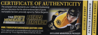 Patrice Bergeron Signed Bruins Logo Hockey Puck (Bergeron COA) at PristineAuction.com