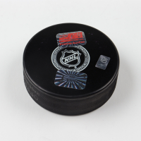 """Brad Marchand Signed Bruins Logo Hockey Puck Inscribed """"Captain for 10 Seconds"""" (Marchand Hologram) at PristineAuction.com"""