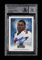Michael Vick Signed 2002 Gridiron Kings #3 (BGS Encapsulated) at PristineAuction.com