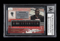 """Michael Vick Signed 2001 Fleer Genuine #126 JSY RC Inscribed """"2001 #1 Pick"""" (BGS Encapsulated) at PristineAuction.com"""