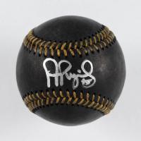 Albert Pujols Signed OML Black Leather Baseball (Beckett COA & MLB Hologram) at PristineAuction.com