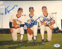 Rollie Fingers, Ted Simmons & Robin Yount Signed Brewers 8x10 Photo (PSA COA) at PristineAuction.com