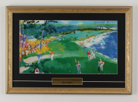 """LeRoy Neiman """"Jack Nicklaus on The 18th at Pebble Beach"""" 13.5x19.5 Custom Framed Print Display at PristineAuction.com"""