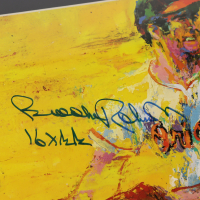"""Brooks Robinson Signed 15.5x19.5 Custom Framed Display with LeRoy Neiman Print Inscribed """"16 x GG"""" (PSA COA) at PristineAuction.com"""