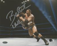 "Dave Bautista Signed 8x10 Photo Inscribed ""WWE"" (Steiner Hologram & SportsMemorabilia Hologram) at PristineAuction.com"