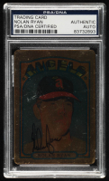 Nolan Ryan Signed LE 1972 Topps #595 Reprint #138/794 (PSA Encapsulated) at PristineAuction.com