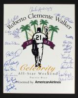 2003 Roberto Clemente Walker 16x20 Print Signed by (21) with Tony Perez, Orlando Cepeda, David Ortiz (JSA ALOA) at PristineAuction.com