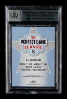 Ed Howard Signed 2019 Leaf Perfect Game All-American #GD13 (BGS Encapsulated) at PristineAuction.com