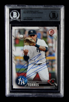 Gleyber Torres Signed 2016 Bowman Draft #BD160 (BGS Encapsulated) at PristineAuction.com