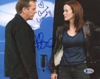 "Annie Wersching & Kiefer Sutherland Signed ""24"" 8x10 Photo (Beckett COA) at PristineAuction.com"
