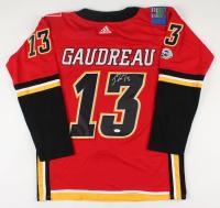 Johnny Gaudreau Signed Flames Jersey (JSA Hologram) at PristineAuction.com