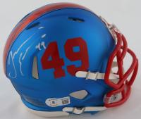 Tremaine Edmunds Signed Bills Speed Mini Helmet (Beckett COA) at PristineAuction.com