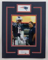 Bill Belichick Signed Patriots 14x18 Custom Matted Cut Display (Beckett COA) (See Description) at PristineAuction.com
