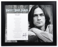 "James Taylor Signed ""Sweet Baby James"" 18x22 Custom Framed Photo Display with Lyrics Sheet (ACOA COA) at PristineAuction.com"