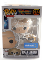"""Christopher Lloyd Signed """"Back To The Future"""" #972 Doc & Einstein Funko Pop! Figure (ACOA Hologram) at PristineAuction.com"""