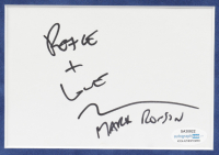 """Mark Ronson Signed """"Uptown Funk!"""" 16x20 Matted Cut Display Inscribed """"Peace + Love"""" (ACOA COA) at PristineAuction.com"""