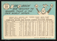 Bob Gibson 1965 Topps #320 at PristineAuction.com