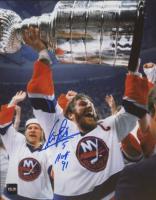 """Denis Potvin Signed Islanders 8x10 Photo Inscribed """"HOF 91"""" (COJO COA) at PristineAuction.com"""