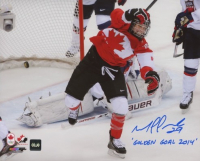 """Marie-Philip Poulin Signed Team Canada 8x10 Photo Inscribed """"Golden Goal 2014"""" (COJO COA) at PristineAuction.com"""