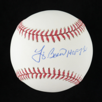 """Yogi Berra Signed OML Baseball Inscribed """"HOF 72"""" (JSA COA) at PristineAuction.com"""