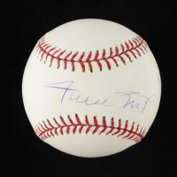 Willie Mays Twice-Signed OML Baseball (JSA LOA) at PristineAuction.com