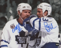 Wendel Clark & Doug Gilmour Signed Maple Leafs 8x10 Photo (COJO COA) at PristineAuction.com