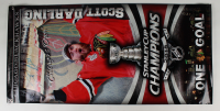 """Scott Darling Signed Blackhawks """"2015 Stanley Cup Champions"""" 27x55 Banner (Darling COA) at PristineAuction.com"""