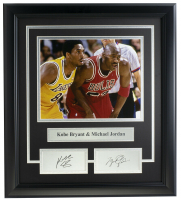 Michael Jordan & Kobe Bryant 16.5x18.5 Custom Framed Photo Display at PristineAuction.com