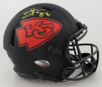 Travis Kelce Signed Chiefs Full-Size Authentic On-Field Eclipse Alternate Speed Helmet (Beckett COA) (See Description) at PristineAuction.com