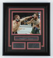 Khabib Nurmagomedov & Conor McGregor 16.5x18.5 Custom Framed Photo Display at PristineAuction.com