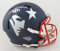 Ty Law Signed Patriots Full-Size AMP Alternate Speed Helmet (Beckett Hologram) (See Description) at PristineAuction.com
