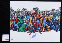 "Stan Lee Signed ""Marvel Comics"" 16x20 Photo (PSA COA) at PristineAuction.com"