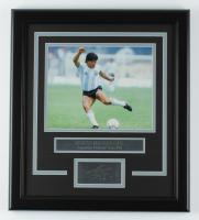 Diego Maradona 16.5x18.5 Custom Framed Photo Display at PristineAuction.com