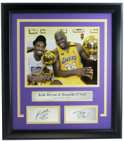 Shaquille O'Neal & Kobe Bryant Lakers 16.5x18.5 Custom Framed Photo Display at PristineAuction.com