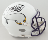 Adrian Peterson Signed Vikings Full-Size Matte White Speed Helmet (Beckett COA) at PristineAuction.com