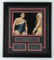 "Andre The Giant & Hulk Hogan ""Wrestlemania III"" 16x18 Custom Framed Photo Display at PristineAuction.com"