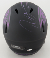 Ray Lewis Signed Ravens Full-Size Eclipse Alternate Speed Helmet (Beckett COA) at PristineAuction.com