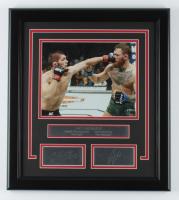 Khabib Nurmagomedov & Conor McGregor UFC 16x18 Custom Framed Photo Display at PristineAuction.com