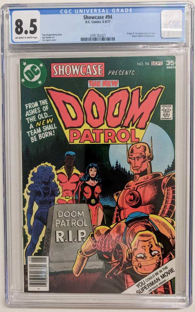 "1977 ""Doom Patrol"" Issue #94 DC Comic Book (CGC 8.5) at PristineAuction.com"