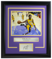 Kobe Bryant Lakers 16x18 Custom Framed Photo Display at PristineAuction.com