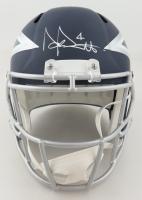 Dak Prescott Signed Cowboys Full-Size AMP Alternate Speed Helmet (Beckett COA & Prescott Hologram) at PristineAuction.com